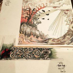 Early draft of the artwork for Splendor Solis